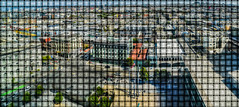 urban weave (pbo31) Tags: sanfrancisco california nikon d810 city may 2017 spring boury pbo31 over rooftops urban view soma federalbuilding missionstreet panorama large stitched panoramic weave color fabric basket