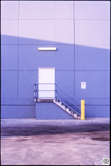City (Pavel Vrzala) Tags: australia canberra act efkarpidisst street gungahlin door entry staffonly stairs backdoor loadingbay bigw blue yellow color film filmphotography slidefilm analog analogue analogphotography 35mm olympus om4 olympusom4 city outskirts suburb
