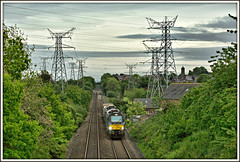 Power Play (david.hayes77) Tags: drs directrailservices 68001 class68 cat powerplay wales northwales northwalescoast connahsquay 2017 6d43 flasks nuclearflasks 68022 pylon nationalgrid evolution resolution