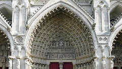 Amiens Cathedral, central tympanum and archivolts