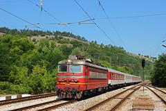 Fast Train 4611 Ruse-Sofia (Krali Mirko) Tags: bdz train locomotive electric skoda 68e3 44109 mezdra transport railway bulgaria railroad бдж влак локомотив мездра българия