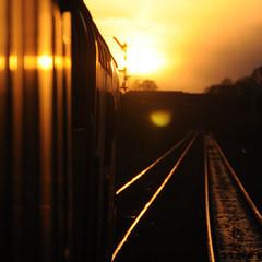 Lowestoft (Owen Signalman) Tags: class37 class 37 british rail diesel electric sunset oulton broad north lowestoft central 1955 train railway signal signalling semaphore silhouette