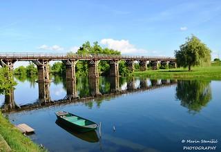 Karlovac, Croatia - Month of May on river Korana in Karlovac