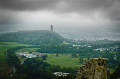 Wallace Monument (daedmike) Tags: scotland stirling dumyat ochills wallacemonument tower fog rain mist clouds landscape view trees