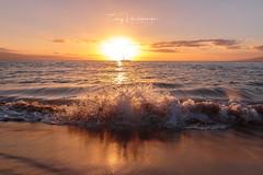 Sunset Crashing Wave Maui Kaanapali Beach (Huch5150) Tags: maui hawaii coastline paradise vacation getaway kaanapali beach calm peace surf wave travel travelphotography