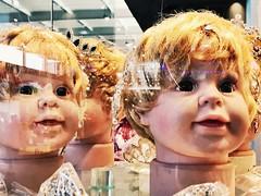 1 in Doll Replication Ver. 2.9s (Robert Cowlishaw (Mertonian)) Tags: window crowns glass robertcowlishaw mertonian dreams reflection abstract iphone iphone7plus ifone dolls windows disturbing creepy