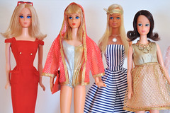 70s Barbie Dreams (miyalumix) Tags: barbie 1971 walk lively 1970 living doll the sun set malibu 1972 quick curl francie ooak restoration