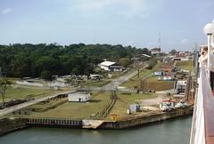 Entering the first Gatun Lock (Hear and Their) Tags: panama canal atlantic caribbean norwegian pearl colon gatun
