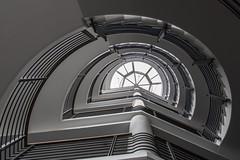 Half moon (Elbmaedchen) Tags: treppenhaus treppenauge spirale spirals roundandround blackandwhite staircase stairs escaliers schwarzweis architektur