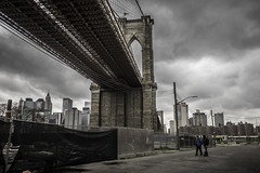 Under The Brooklyn Bridge (PetterPhoto) Tags: newyork pettersandell petterphoto street streetphotography bridge brooklynbridge manhattan brooklyn under clouds city citylife urban people