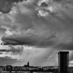 Black corner (photomatic.se) Tags: ifttt 500px church bw black white sweden architectural tower högalidskyrkan wingardhs