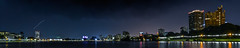 lakeshore 17 (pbo31) Tags: eastbay alamedacounty bayarea california may 2017 spring boury pbo31 color black dark night oakland over view city urban lightstream traffic motion roadway nikon d810 skyline panoramic large stitched panorama lakemerrit reflection lakeshore adamspoint