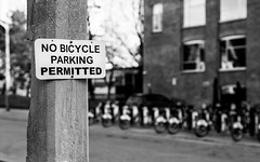 Contradiction (hector_cbs) Tags: contradiction bicycle sign blackandwhite bnw contradicion
