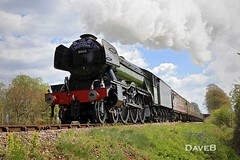 19th April 2017. Flying Scotsman and Service trains at the Bluebell (Dangerous44) Tags: bluebell railway steam engine locomotive 60103 flying scotsman a3