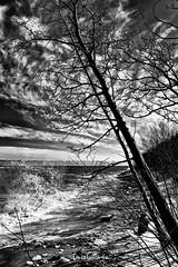 Splash-Vague - Plage Champlain I.jpg (denis_lapointe) Tags: qc eau baiecomeau canada ville plagechamplain vague neige
