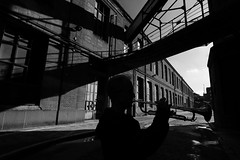 Jazzman (Sergi_Escribano) Tags: bloodquartet jazz music musicians blackandwhite monochrome portrait portraiture barcelona sergiescribano markcunningham freejazz monocromático industrial landscape trumpeter industry factory noircity city
