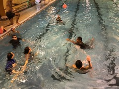 in the pool swimming course