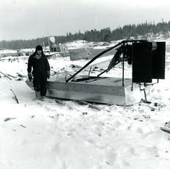 Hydrokopteri Glosholmenin merivartioasemalla (The Museum of Finnish Coast Guard) Tags: meri merivartijat merivartija talvi hydrokopteri jääreki 1965