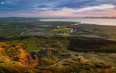 Binevenagh View. (MNM Photography 2014) Tags: sunset sunsetting binevenagh binevenaghmountain benevenagh benevenaghmountain warmlight rapeseed broightergold myroe farmland agriculture meanderingriver riverroe loughfoyle lough rocks fields fieldsofgold forestry forest clouds cloudysky colourfulclouds water mountains inishowen donegalhills hills landscape vista roevalley roeestuary limavady countyderry countylderry countydonegal northernireland ulster canon canon5dmkiii canonef24105mmf4lisusm leefilters leelandscapepolarisingfilter leegradfilter