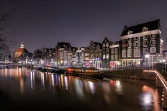 Singel (karinavera) Tags: travel sonya7r2 urban holland architecture amsterdam night singel canals longexposure view netherlands city