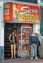 Sex Shop in De Wallen, the Red Light District of Amsterdam (PhotosToArtByMike) Tags: redlightdistrict amsterdam dewallen netherlands sexshop eroticashop pornshop prostitutes sex sexual oudezijdsvoorburgwal redlight dutch holland centrum narrowstreets alleys centrecity oldcentre oudekerk
