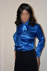 New satin pussy bow / tieneck blouse (brigitta.cd) Tags: crossdresser transvestite breastforms blouse satin satinblouse tieneck ascot pussybow