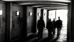 Tunnel I (#Weybridge Photographer) Tags: canon 5d ii mkii eos slr dslr london westminster bridge tunnel underpass adobe lightroom low key high contrast gang people
