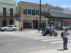 Celebrate Taking Them Down (Infrogmation) Tags: neworleans rampartstreet nopd motorcycle hardwarestore