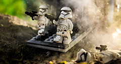Hot LZ (Lego_LUTs) Tags: green blue yellow storm trooper star wars war lego outdoors clone troopers first order blasters afol minifigs minifigures bricks blocks canon toy toys force legos t3i republic people photoadd atst death rogue one dirt practical effects orange arc