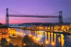Puente colgante de Vizcaya (Mimadeo) Tags: hanging bridge hangingbridge getxo portugalete lasarenas bilbao puentecolgante river bizkaia twilight evening euskadi tourism destiny paisvasco biscay country basque patrimony basquecountry nervion historic worldheritage heritage landscape spain vizcaya beautiful