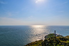 South Stack and South Stack Lighthouse - Anglesey, Wales (dejott1708) Tags: south stack lighthouse wales anglesey landscape sea sun sailboat great britain