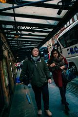 Walking about the streets of London #2 (stray_light_rays) Tags: london streetphotography street candid uk unitedkingdom ninja daytime strangers women agroupoftwo dutchangle pavement walkingtowardsme redcoat