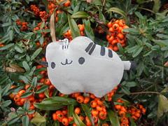 377 (en-ri) Tags: pusheenthecat pupazzino gatta cat miao sony sonysti nero grigio bacche arancione cespuglio