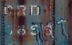Spirit Voices (Junkstock) Tags: aged abstraction abstract blue color corrosion corroded decay decayed distressed graphics graphic illinois irmcom numbers number paint patina railroad rivets rust rusty rusted typography type transportation transport trains train text weathered