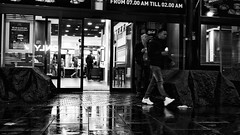 2am. Nearly. (jaap spiering | photo projects int.) Tags: jaapspiering jaapspieringphotographer jaapspieringfotografie blackandwhite monochrome zwartwit bw noiretblanc bnw streetphotography street people mens mensen denhaag thehague 070 holland netherlands food restaurant