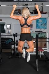 Karissa (austinspace) Tags: woman portrait spokane washington alienbees blond fitness workout weights competitor blonde muscles bodybuilding bikini