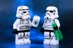 Stormtrooper with Coffee Stains (Lesgo LEGO Foto!) Tags: starwars star wars war stormtrooper stormtroopers coffee lego