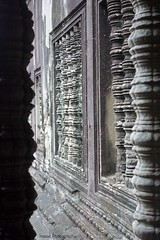 Angkor Wat Carved Pillars ({House} Photography) Tags: angkor wat unesco world heritage site cambodia asia siem reap sony rx100 mk1 ancient religious 12th century temple hindu god vishnu housephotography timothyhouse pillars carving carved architecture