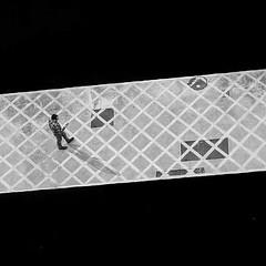 ..Walking.. . . . . . . . (juaxxo) Tags: instagramapp square squareformat iphoneography uploaded:by=instagram inkwell barcelona camino cataluña solo blanco negro paseando paso rayado