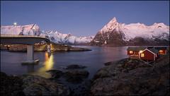 N o r w a y (jeanny mueller) Tags: norway norge norwegen arctic winter rorbuer eliassen hamnoy lofoten sunset sunrise mountain light landscape seascape fjord