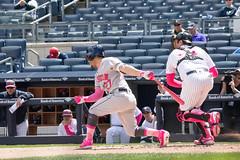 Astros second baseman Jose Altuve strikes out in the first inning. (apardavila) Tags: houstonastros josealtuve mlb majorleaguebaseball newyorkyankees yankeestadium yankees yanks baseball sports