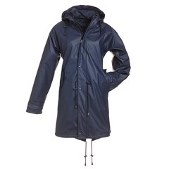 BMS - HafenCity SoftSkin rain coat blue (ShinyNylonFan) Tags: rainjacket raincoat waterproofed bmshafencity bms rubber