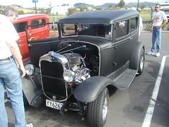 1930 FORD A YY6262 Black Saloon (D70) Tags: 1930 ford a yy6262 black saloon mercer waikato newzealand olympus c2100uz hotrod