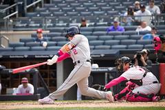 Astros third baseman Alex Bregman swings at a pitch during the second inning. (apardavila) Tags: alexbregman houstonastros mlb majorleaguebaseball yankeestadium baseball sports