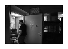 A call to mom (Jan Dobrovsky) Tags: 21mm biogon leicam people grain indoor contrast krásnálípa monochrome story blackandwhite northernbohemia portrait monochom drama document childrens home