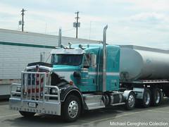 Ankrum Trucking Kenworth W900B, Truck# 150 (Michael Cereghino (Avsfan118)) Tags: ankrum trucking kenworth w900b w 900 b sleeper 4 axle quad drop heavy haul fuel tanker truck semi kw 150