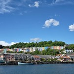 Clifton Wood Coloured Houses, seen from Bristol Harbourside thumbnail