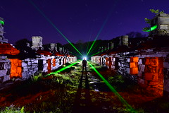 The Barracks. (martbarras) Tags: nikon d7100 martbarras lightpainting the barracks laser ruins mountian electric tokina 1116mm very heavy bags must pack lighter military op light art lightpaint sooc raw conversion gelled flash torch wales brighton shoreham
