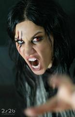 Cristina Scabbia - Lacuna Coil (2S2B shutterbugs) Tags: singer cristinascabbia music musician makeup halloween portrait precious pop baroque rock milan
