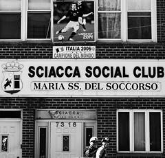 New York, NY (photobug56) Tags: bw newyork brooklyn bensonhurst black white italy sicily soccer outdoor street usa